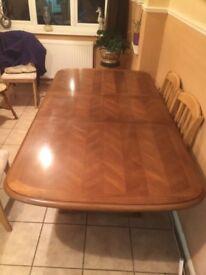 Solid oak table £70 ono