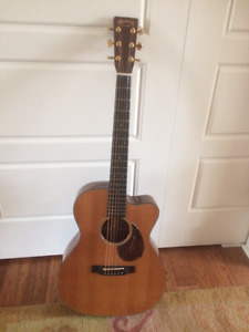 """Authentic """"Martin"""" Cutaway Acoustic Guitar with case"""