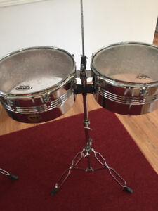 Timbales MP avec pied, cloche et clamp