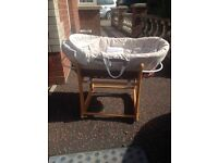 Child Cradle Free for collection only, looks new! good condition.