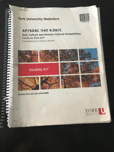 YORK UNIVERSITY TEXTBOOKS - PRICES/ COURSE CODE IN DESCRIPTION
