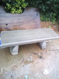 4 foot concrete bench