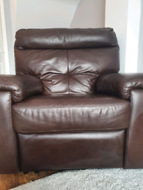 Brown Leather Electric recliner chair