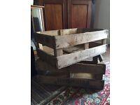 2 vintage wooden crates shop/display