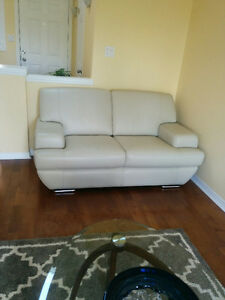Beautiful leather sofa and love seat