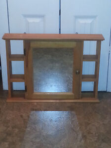 bathroom cabinet  with mirror solid wood