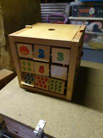 Wooden kids 4 activities box