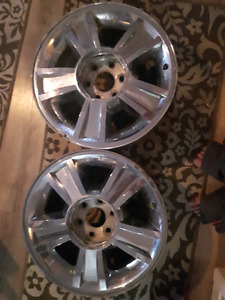 Set of 20 inch, 6 Bolt Die Cast Aluminum Rims! $195 for cheap.