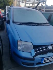 Breaking spares parts fiat panda 2004 blue bunper door light window