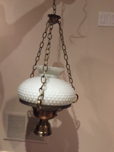 White dual light hanging lamp for sale