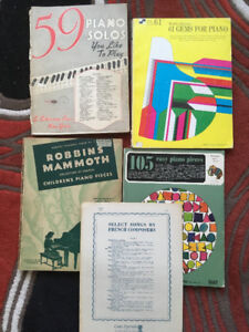 Anciens livres de musique pour piano