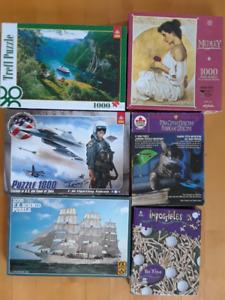 6 Casse-tête Schmid, Trefl et autres - Puzzle