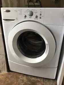 Washer and dryer set. Stackable