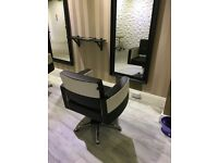 Hairdresser chair for rent and Nail technician desk available