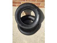 2 part worn 165/70/14 Hankook tyres ***3.5-4.0mm***
