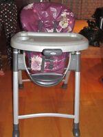chaise haute graco de disney minnie