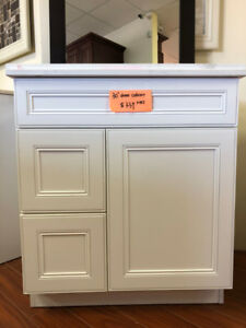 CLEARANCE 60+ vanity cabinet demos now!!!