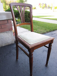 3 DAY SALE! Set of 4 Antique Dining Room Chairs--Solid Walnut!