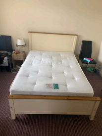 4ft6 double bedframe &heavy orthopaedic baroness mattress £125