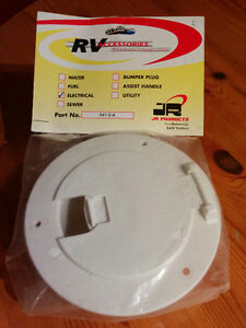 RV Round Electric Cable Hatch