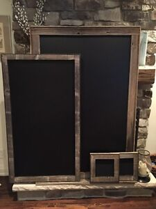 Amazing rustic chalkboards !!! Barnboard! Any size you want!