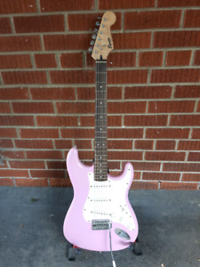 Pink Squier Stratocaster