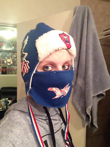 Ed Hardy UniSex American Flag Winter Hat With Facemask