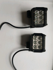4 inch led light pods, wiring harness