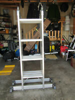 Mastercraft 17 Foot Aluminum Articulating Ladder