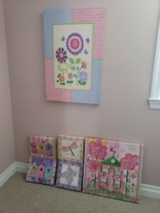 Girl's Bedroom Décor: Colleen Karis Designs Canvas Wall Art