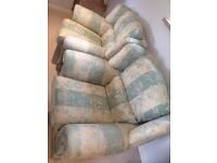 £50 if you pick up today! Laura Ashley 3 piece sofa and 2 arm chairs