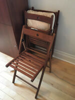IKEA - Set of 4 Wooden folding Chairs - MOVING SALE