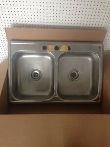 double stainless steel kitchen sink