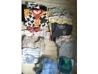 Bundle of baby boy clothes (0-9months)