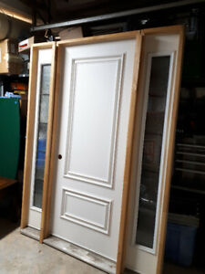 FRONT ENTRY DOOR WITH SIDE GLASS LIGHTS