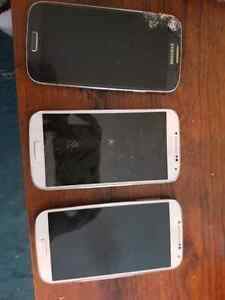 3 Samsung s4's for pieces!
