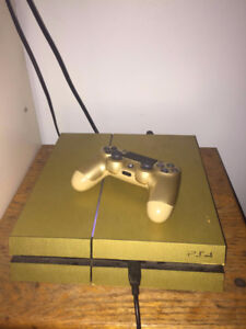 Gold Playstation 4 w/ 2 TB HARDDRIVE! & 1 Gold Controller!