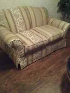 Hardly used love seat and chair.