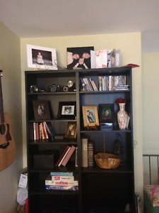 Black/Brown large shelving unit