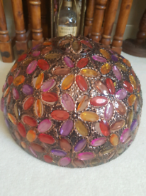 Moroccan style jewelled lampshade