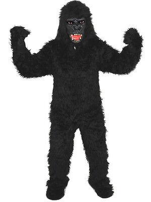 GORILLA SCHWARZ EINHEITSGRÖSSE XXL  KOSTÜM FASCHING KARNEVAL  HALLOWEEN AFFE - Gorilla Kostüm Halloween