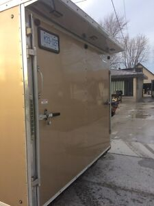 30 ft v nose car hauler enclosed trailer