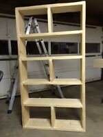 100% Real Wood Rustic Shelving unit/bookcase