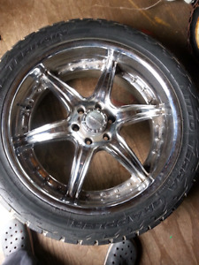 "22"" Rims with Rubber , 6 bolt pattern"