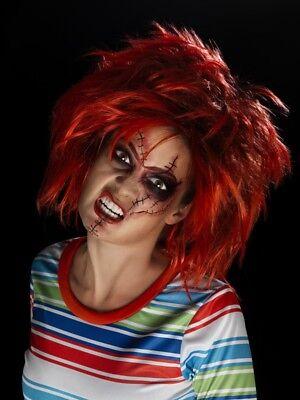 Chucky Make-Up Kit Smiffys Fancy Dress Costume (Chucky Makeup)