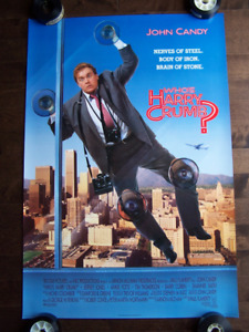WHO'S HARRY CRUMB JOHN CANDY original movie theater poster