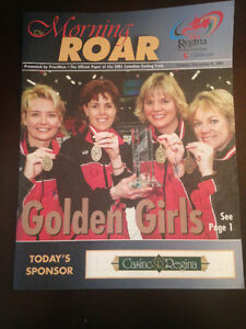CURLING BROCHURES ROAR RINGS SCHMIRLER MAGAZINES STOUGHTON BOOKS