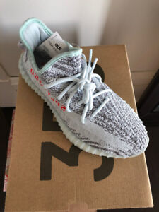 Adidas Yeezy Boost 350 V2 Blue Tint Grey Sneakers Men's Size 8