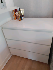 Ikea malm 3 chest of drawers