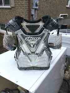Thor chest protector and boots for sale Peterborough Peterborough Area image 1
